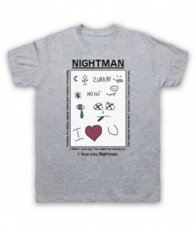 It's Always Sunny In Philadelphia Nightman Note Lyrics T-Shirt