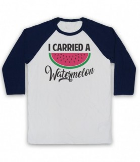 Dirty Dancing I Carried A Watermelon Baseball Tee