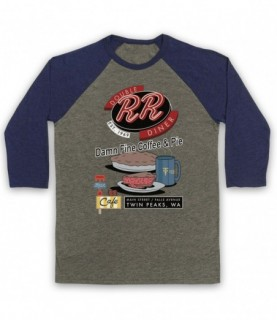 Twin Peaks Double R Diner Damn Fine Coffee & Pie Baseball Tee