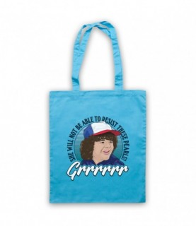 Stranger Things Dustin She Will Not Be Able To Resist These Pearls Tote Bag