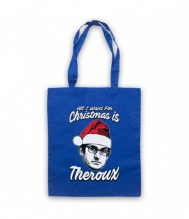 Louis Theroux All I Want For Christmas Is Theroux Tote Bag