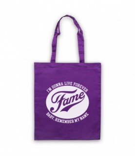 Fame I'm Gonna Live Forever Baby Remember My Name Tote Bag