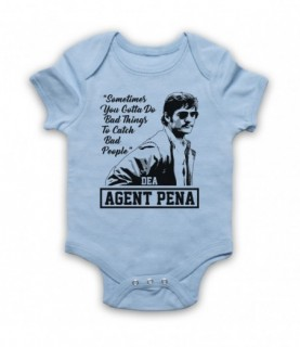 Narcos Agent Pena Do Bad Things To Catch Bad People Baby Grow Bib
