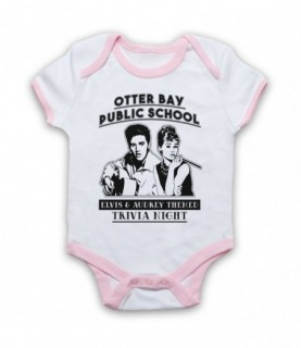 Big Little Lies Elvis & Audrey Themed Trivia Night Baby Grow Bib