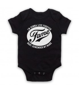 Fame I'm Gonna Live Forever Baby Remember My Name Baby Grow Bib