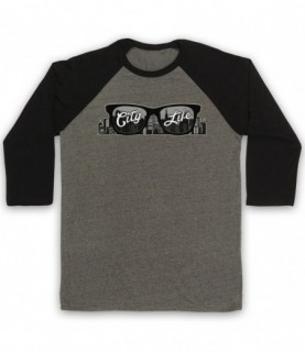 City Life Sunglasses Baseball Tee