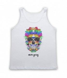 Ink Skull Watercolour Painting Never Going Tank Top Vest