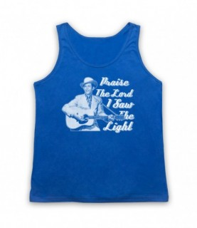 Hank Williams I Saw The Light Praise The Lord Tank Top Vest
