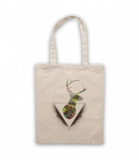 Deer Watercolour Painting Head Tote Bag