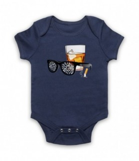 Bob Dylan Like A Rolling Stone Sunglasses & Whiskey Baby Grow Bib