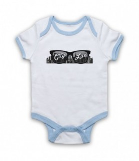City Life Sunglasses Baby Grow Bib