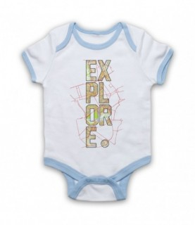 Explore Love Of Travel Baby Grow Bib
