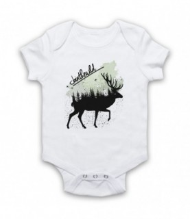 Join The Wild Deer Baby Grow Bib