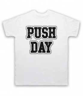 Push Day Bodybuilding Gym Workout Slogan T-Shirt