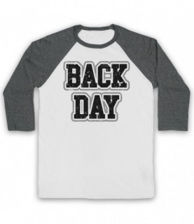 Back Day Bodybuilding Gym Workout Slogan Baseball Tee