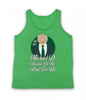 Saw Doctors Michael D Rockin' In The Dail For Us Tank Top Vest