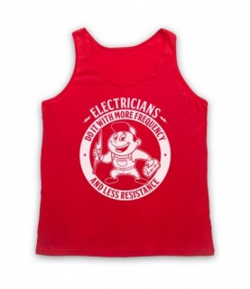 Electricians Do It With More Frequency And Less Resistance Tank Top Vest