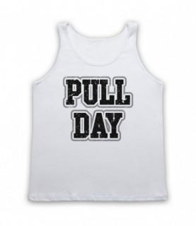 Pull Day Bodybuilding Gym Workout Slogan Tank Top Vest