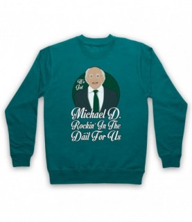 Saw Doctors Michael D Rockin' In The Dail For Us Hoodie Sweatshirt Hoodies & Sweatshirts