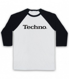 Techno Music Parody Logo Baseball Tee