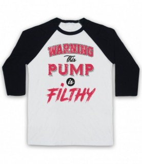 Warning This Pump Is Filthy Bodybuilding Gym Workout Slogan Baseball Tee