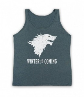 Game Of Thrones Stark Wolf Head Sigil Winter Is Coming Tank Top Vest