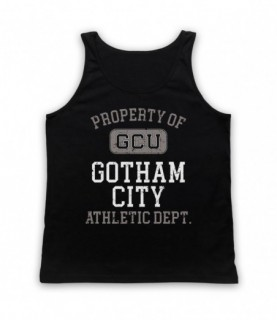 Justice League Cyborg GCU Gotham City Athletic Dept Tank Top Vest
