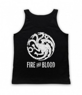 Game Of Thrones Targaryen Dragon Sigil Fire And Blood Tank Top Vest