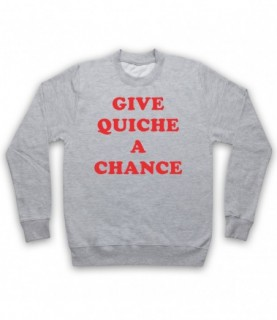 Red Dwarf Give Quiche A Chance As Worn By Rimmer Hoodie Sweatshirt Hoodies & Sweatshirts
