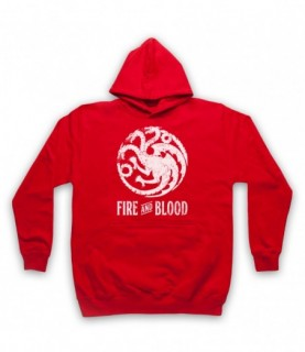 Game Of Thrones Targaryen Dragon Sigil Fire And Blood Hoodie Sweatshirt Hoodies & Sweatshirts