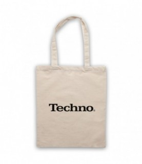 Techno Music Parody Logo Tote Bag