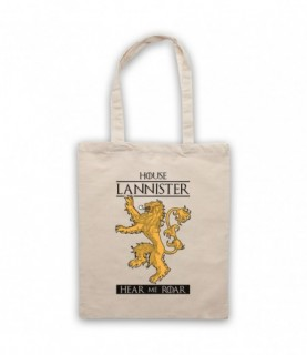 Game Of Thrones House Lannister Tote Bag