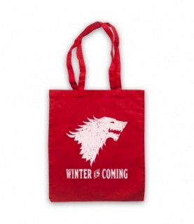 Game Of Thrones Stark Wolf Head Sigil Winter Is Coming Tote Bag