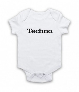 Techno Music Parody Logo Baby Grow Bib