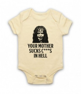 Exorcist Your Mother Sucks C***S In Hell Baby Grow Bib