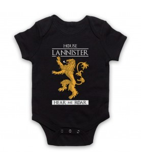 Game Of Thrones House Lannister Baby Grow Bib
