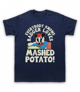 Bodger & Badger Badger Loves Mashed Potato T-Shirt