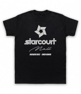 Stranger Things Starcourt Mall Single Colour Logo T-Shirt