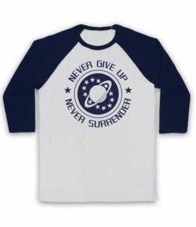 Galaxy Quest NSEA Never Give Up Never Surrender Baseball Tee