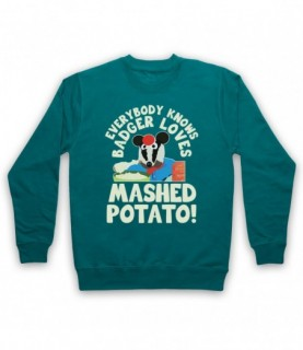 Bodger & Badger Badger Loves Mashed Potato Hoodie Sweatshirt Hoodies & Sweatshirts