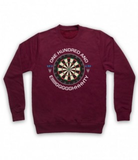 Darts Dartboard One Hundred And Eighty Eiiiigggghhhhhty Hoodie Sweatshirt Hoodies & Sweatshirts