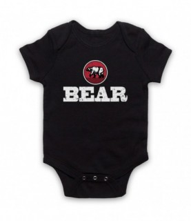 Bear Gay Humour LGBT Pride Baby Grow Bib