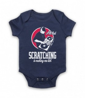 All That Scratching Is Making Me Itch DJ Slogan Baby Grow Bib