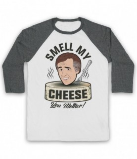 Alan Partridge Smell My Cheese You Mother Baseball Tee