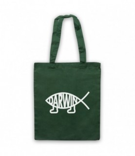 Darwin Evolution Atheist Symbol Fish With Legs Ithchys Tote Bag