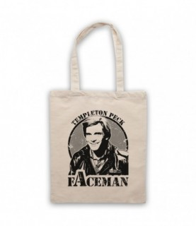 A-Team Templeton Peck Faceman Tote Bag