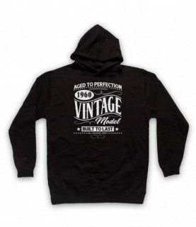 1960 Vintage Model Born In Birth Year Date Funny Slogan Hoodie Sweatshirt Hoodies & Sweatshirts