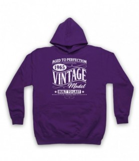 1965 Vintage Model Born In Birth Year Date Funny Slogan Hoodie Sweatshirt Hoodies & Sweatshirts