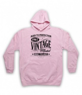 1967 Vintage Model Born In Birth Year Date Funny Slogan Hoodie Sweatshirt Hoodies & Sweatshirts