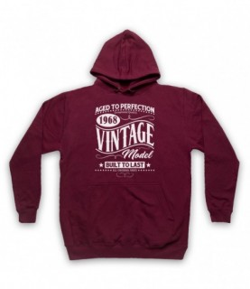 1968 Vintage Model Born In Birth Year Date Funny Slogan Hoodie Sweatshirt Hoodies & Sweatshirts